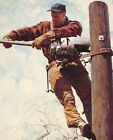 Print - The Lineman by Norman Rockwell