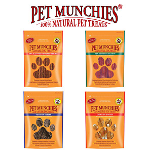 Pet Munchies 100% Natural Dog Treats - Meat Selection - Cases of 8 packs