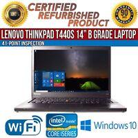 "Lenovo ThinkPad T440s 14"" Intel i5 8GB RAM 128GB SSD Win 10 WiFi B Grade Laptop"