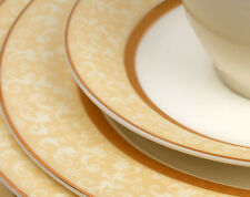 Flato 20 pc Forest Bone China Gold Border Style Dinner Set, Service for 4