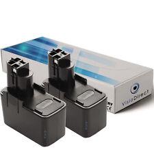 Lot de X2 batteries type 2607335151 12V 3000mAh pour BOSCH - Société Française
