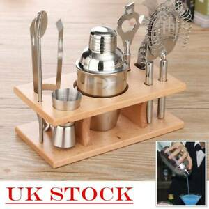 8Pcs Stainless Steel Cocktail Shaker Set Bar Drink Mixer Bartender Accessories