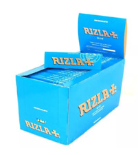 Full Box of 100 Booklets Rizla Blue Rolling Cigarette Papers Free P&P
