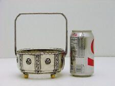 Art Deco Solid Silver Basket w Glass Insrt Marked P. Bruckmann Heilbronn Germany