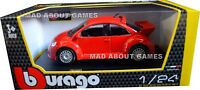 VW VOLKSWAGEN BEETLE 1:24 Scale RSI Diecast Car Model Die Cast Toy Red Models