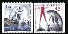 Sweden 1991 Norden IX tourism; polar bear, dolphin.   MNH