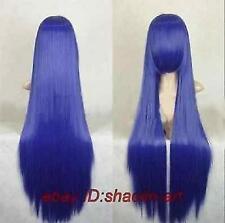 Fée cosplay queue bleue Parti violet bleu Perruque 100cm .+ gratuit hairne