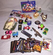 Junk Drawer TOY LOT Vintage Race Wind Up Cars Cards Horns DISNEY Taz Trivia Play