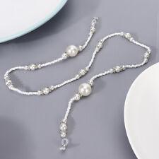Elegant Artificial Pearl Eyeglasses Cord Alloy Anti-Slip Strap Rope Glasses