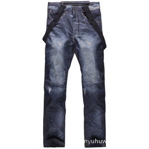 Winter Unisex Snowboarding Pants Double Board Ski Pants Waterproof Thermal Bibs