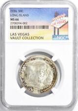 1936 Long Island Silver Commemorative Half Dollar - NGC MS-66 - Casino Vault