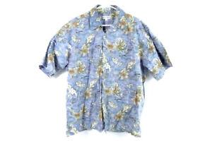 Pierre Cardin Tropical Short Sleeve Button Up Shirt Men's Size Large Cotton