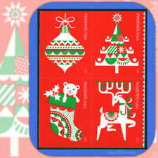 2020  HOLIDAY DELIGHTS Block of 4 attached USPS Forever® Stamps  #5525-5528a (1)