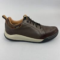 Clarks Ashcombe Bay Gortex Brown Leather Lace Up Casual Waterproof Shoes UK7 G
