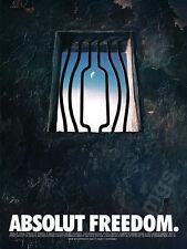 Absolut Freedom print ad 1998 Vodka - Prison Window