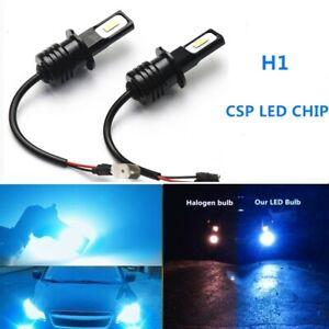 H1 CSP LED Headlights Bulbs Kit High Low Beam DRL 8000K Bright White 6000LM 100W