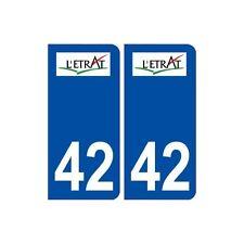 42 L'étrat logo ville autocollant plaque stickers droits