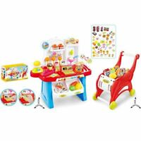 Children's 41 Piece Kids 2 in 1 Role Play Sweet Shop Cash Till & Trolley Toy Set