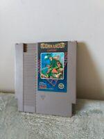 Commando Nintendo NES Cleaned Tested Working vtg video game