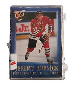 Jeremy Roenick Blackhawks trading card set of 15