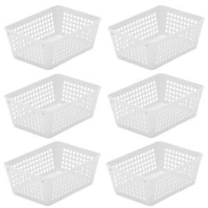 6-Pack Plastic Storage Baskets for Office Drawer, Desk, 32-1181-6