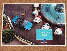 1994-95 PEUGEOT 306 CABRIOLET 2.0 Sales Brochure