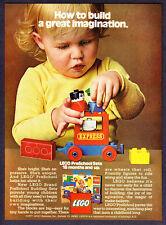 "1977 LEGO Train Building Set photo ""Build Their Imagination"" promo print ad"