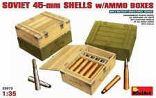 MiniArt 1/35 Soviet 45 mm Conchiglie con Munizioni scatole # 35073 @