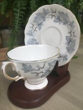 Vtg Royal Albert Fine Bone China Silver Maple Pattern Tea Cup And Saucer