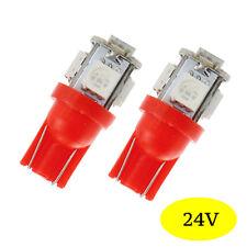2 lampadine a LED smd W5W T10 Camion Mezzi pesanti 24V Rosso per Renault Camion