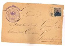 1169 MEXICO Oficial Front Cover 1916 Cancel & Seal Tlajomulco Jal. Revolution