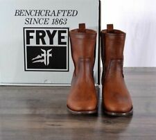 BRAND NEW Frye Womens Size 7.5M Cara Short Cognac Leather Ankle Boots NIB