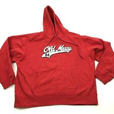 VINTAGE Old Navy Sweater Hoodie Size Extra Large XL Red Long Sleeve Hooded 90's
