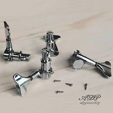 4x Mecaniques Basse Gotoh GB7 Chrome Bass Tuners Left Side /droitier Close-out