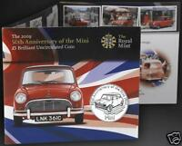 Alderney £5 Coin BU 50th Anniversary of The Great British Mini Car Gift Set Pack