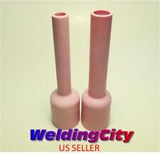 2 TIG Welding Large Gas Lens Ex-Ex-Long Ceramic Cups 57N #6 #8   US Seller Fast