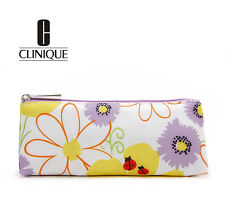 CLINIQUE Makeup Cosmetics Bag with Flower Pattern, Brand NEW! 100% Genuine!!