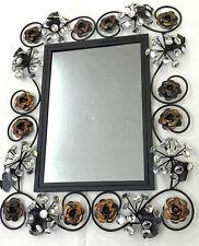 Wand Spiegel 62 x 48cm Spiegel 3D 104 Glitzernde Steine Glamour BLUMEN SCHWARZ
