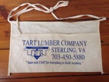 Vintage Tart Lumber Company Sterling VA White Cloth Tool Waist Pouch Bag Apron