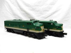 POSTWAR LIONEL 2356 SOUTHERN, F3,  AA DIESELS, C-7 EXCL, RUN GREAT, NO RESERVE!