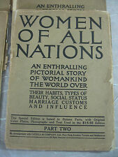9 ISSUES Women of All Nations: Pictures of Womankind the World Over 1912 ANTIQUE