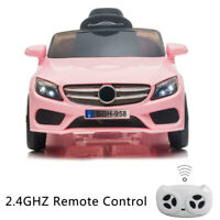 12V Kids Ride On Car Electric Car W/MP3 LED Lights Toy Gift Remote Control Pink