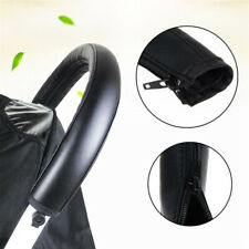 Baby Pram Handle Pu Leather Pushchair Stroller Armrest Case Protective Cover Us