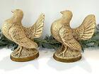 "Vintage Jaru California Pottery Dove Bird Figurines. Pair 9"" Tall Mid Century"