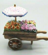 Rochard Pink Flower Cart Limoges Box -