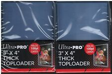 50 Ultra Pro 3x4 Thick Toploaders 100pt Jersey Cards 2 Packs of 25 ULPTL81846