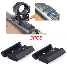 2pcs Dovetail to Weaver Picatinny Adapter Snap In Rail Adapter 11mm to 20/22mm