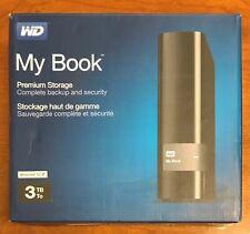 WD - My Book 3TB External USB 3.0 Hard Drive Black WDBFJK0030HBK-0A