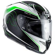 Caschi verdi marca HJC per la guida di veicoli