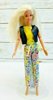 """MATTEL BARBIE Doll Blonde Hair Blue Eyes Articulated Elbows Outfit 12"""" Tall"""
